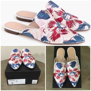 J.Crew Embroidered Ingalls Floral Marina Mule. 6.5